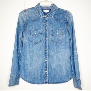 J. Crew Denim Western Button Front Shirt Size 2